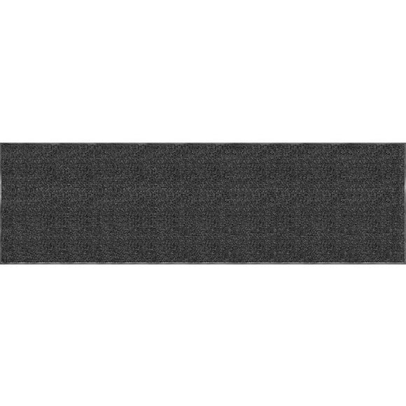Tough Rib Floor Mat, 3' x 10', Charcoal