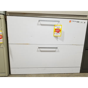 "Used 36"" Lateral File 2 Drawer, White"