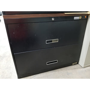 "Used 36"" 2 Drawer lateral File, Black"