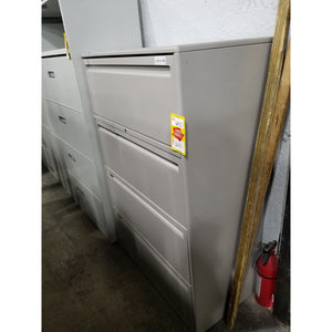"Used Haworth 36"" Lateral File 4 Drawer, Charcoal Grey"