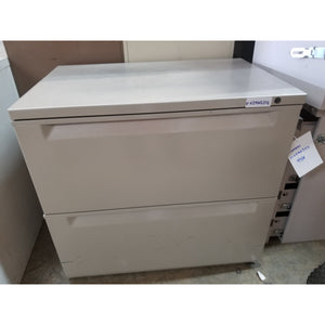 "Used 29"" 2 Drawer Lateral File, Gray"