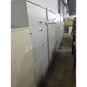 "Used 30"" 5 Drawer Lateral File, Grey"