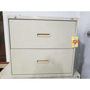"Used 30"" 2 Drawer Lateral File, Putty"