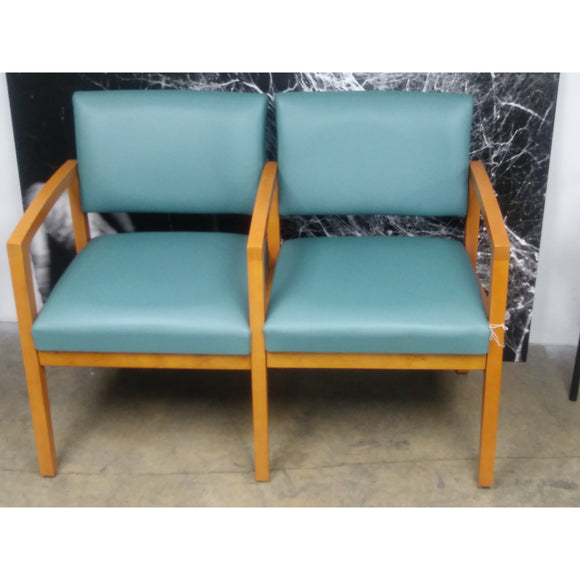 Lenox Outlet Modern Waiting Room 2-Person Seating with Center Arms