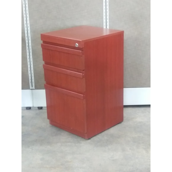 Pre-Owned Wooden Box/Box/File Pedestal, Brown
