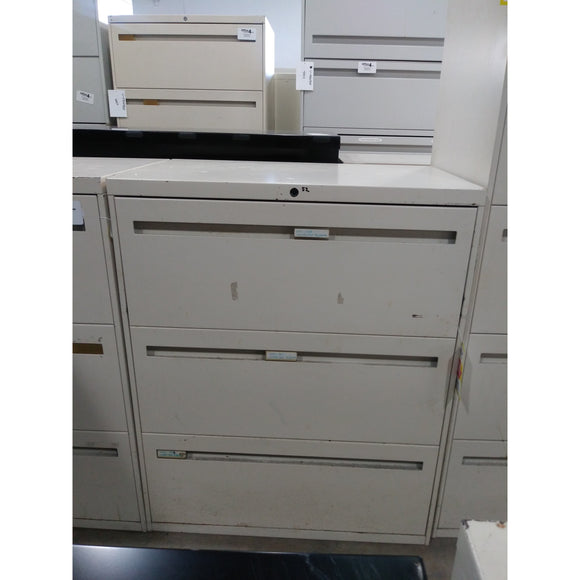 Pre-owned 3 Drawer Lateral File 30