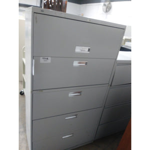 "Pre-Owned Hon 36"" Wide 5 Drawer Lateral File, Light Putty"