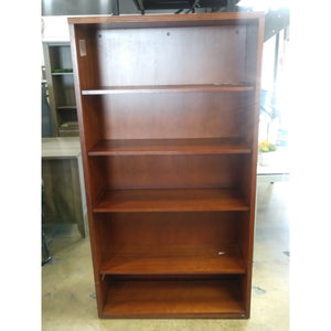 "Pre-Owned 5 Shelf Wood Bookcase, 66""High  x 36"" Wide, Cherry"