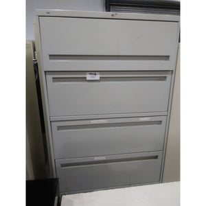 "Pre-Owned Hon 36"" Wide 5 Drawer Lateral File, Putty"