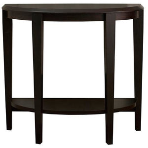 Monarch Specialties Console Table, Crescent, Cappuccino