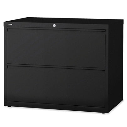 (Scratch & Dent) Lorell Fortress Series 36''W 2-Drawer Steel Lateral File Cabinet, Black