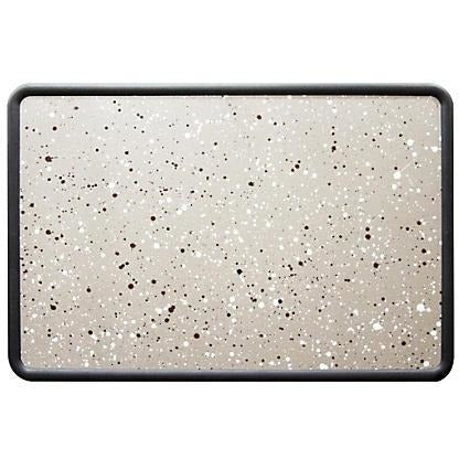 (Scratch & Dent) Quartet Contour Granite Colored Cork Board With Plastic Frame, 48