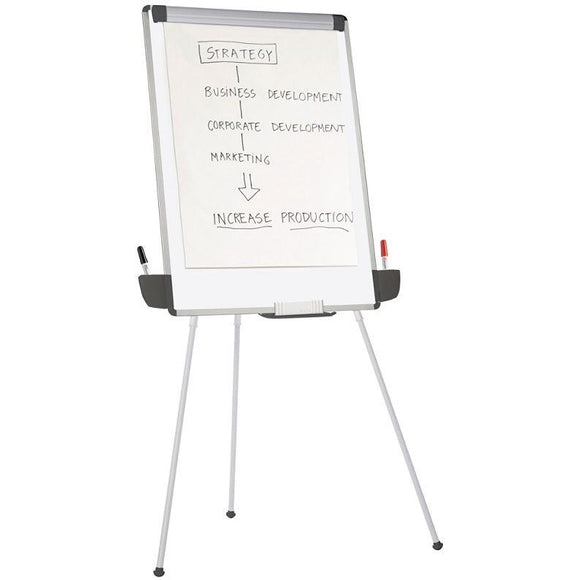 OF4S Outlet Tripod Dry-Erase Easel, 29 3/8