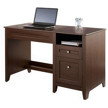 (Scratch & Dent) Realspace Outlet Premium Modern Manual Height-Adjustable Desk, Mocha