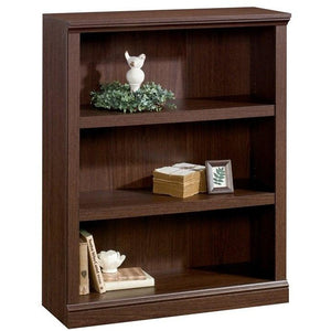 Realspace Outlet Premium Bookcase, 3-Shelf, Mocha