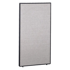 "(Scratch & Dent) Bush ProPanel Outlet System, Privacy Panel, 66 7/8""H x 36""W x 1 3/4""D, Light Gray/Slate"