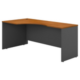 "(Scratch & Dent) Business Furniture Components Corner Desk Left Handed 72""W, Natural Cherry/Graphite Gray, Standard Delivery"