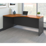 "Bush Business Furniture Components Corner Desk Left Handed 72""W, Natural Cherry/Graphite Gray, Standard Delivery"