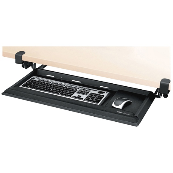 Fellowes Designer Suites DeskReady Keyboard Drawer, Black