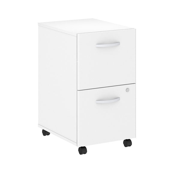Bush Business Furniture Outlet Studio C 2 Drawer Mobile File Cabinet, White