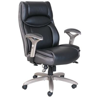 (Scratch & Dent) Serta Smart Layers Outlet Jennings Super Task Big and Tall Chair, Black/Slate