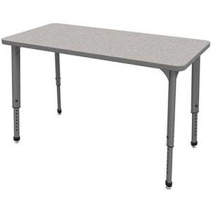 "Marco Group Outlet Apex Series Rectangle Adjustable Table, 30""H x 48""W x 24""D, Gray Nebula/Gray"