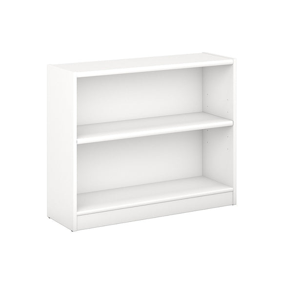 Bush Furniture Outlet Universal 2 Shelf Bookcase, Pure White