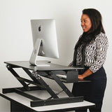 Lorell Outlet Sit-To-Stand Desk Riser, Black