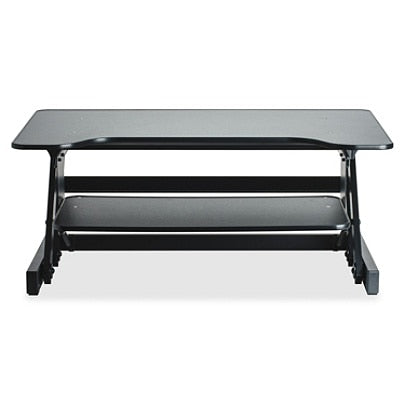 Lorell Sit-To-Stand Desk Riser, Black