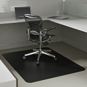 "(Scratch & Dent) Deflect-O Chair Mat For Low-Pile Carpets, For Commercial-Grade Carpeting, 46""W x 60""D, Black"