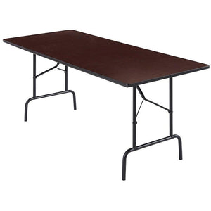 Realspace Folding Tables, 29''H x 72''W x 30''D, Walnut