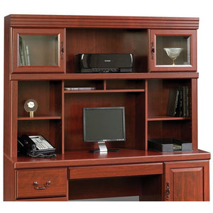 Sauder Outlet Heritage Hill Credenza Hutch, Classic Cherry