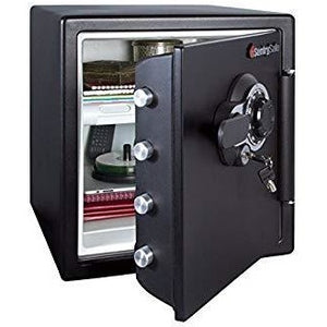 SentrySafe Fire-Safe Combination Safe, 1.23 Cu. Ft., Black