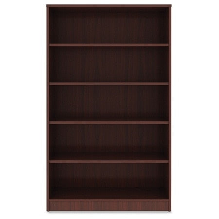 Lorell Outlet Laminate Bookcase, 5-Shelf, 60