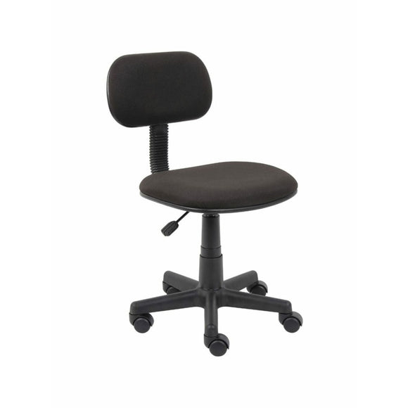 Steno Fabric/Plastic Low-Back Task Chair, Black