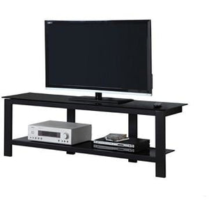 "Monarch Outlet TV Stand, Glass With Metal Frame, For Flat-Screen TVs Up To 60"", Black"