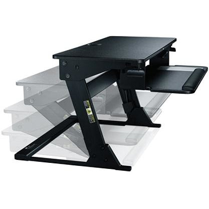3M Outlet Precision Standing Desk, Black