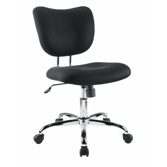 Brenton Studio Outlet Jancy Mesh Fabric Low-Back Task Chair, Black/Chrome