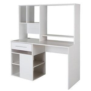 (Scratch & Dent) South Shore Annexe Computer Desk With Hutch, Pure White