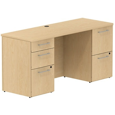 (Scratch & Dent) Bush Business Furniture 300 Series Office Desk With 2 Pedestals 60