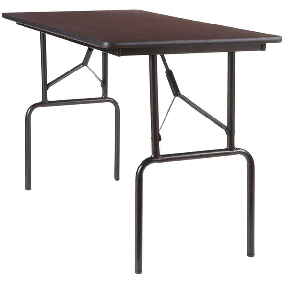 Realspace Folding Tables, 29''H x 48''W x 24''D, Walnut