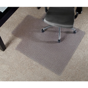 "Realspace Economy Chair Mat For Thin Commercial-Grade Carpets, Wide Lip, 45""W x 53""D, Clear"