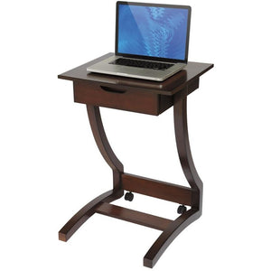 "(Scratch & Dent) Realspace Outlet Coastal Ridge Laptop Cart, 30 5/16""H x 22 1/4""W x 21""D, Mahogany"