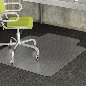 "Realspace Advantage Outlet  Chair Mat For Thin Commercial-Grade Carpets, Wide Lip, 46""W x 60""D, Clear"