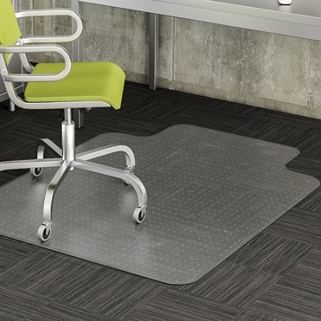 Realspace Advantage Outlet  Chair Mat For Thin Commercial-Grade Carpets, Wide Lip, 46
