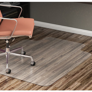 "Realspace Hard Floor Chair Mat, Wide Lip, 45""W x 53""D, Translucent"