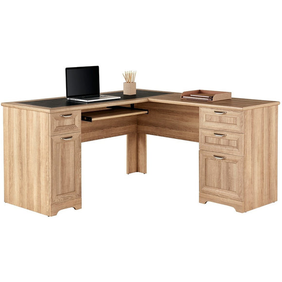 (Scratch & Dent) Realspace Outlet Magellan L-Shaped Desk, Blonde Ash, item # 4792691-SD