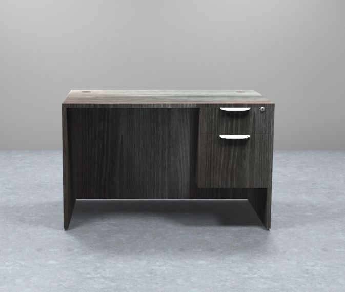 Sheridan Agent Desk with Locking Hanging Box/File Pedestal Drawers, 48