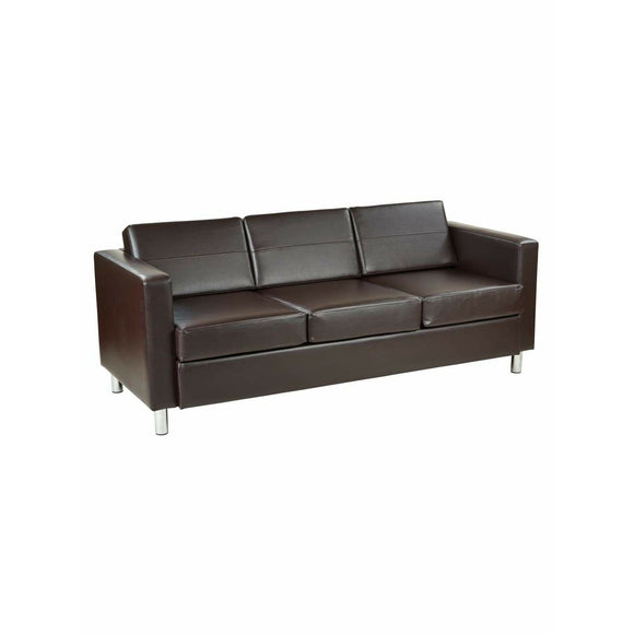 (Scratch & Dent) Office Star Outlet Avenue Six Pacific Sofa, Espresso/Chrome
