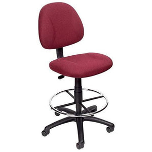 Boss Drafting Stool, Burgundy/Chrome